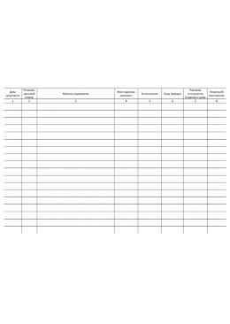 журнал регистрации поступивших документов с грифом Для служебного пользования