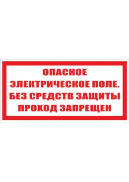 2.1.23 Опасное электрическое поле. Без средств защиты проход запрещен.