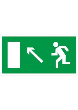 E06 Направление к эвакуационному выходу налево вверх