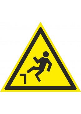 W15 Осторожно. Возможность падения с высоты