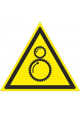 W29 Осторожно. Возможно затягивание между вращающимися механизмами