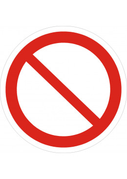 P21 Запрещается (прочие опасности или опасные действия)