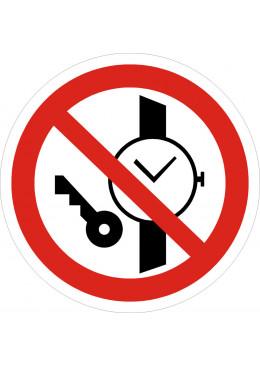 P27 Запрещается иметь при (на) себе металлические придметы