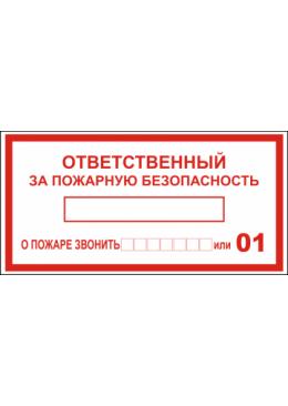 3.1.23 Ответственный за пожарную безопасность